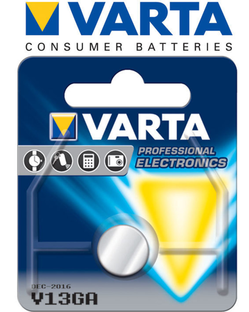 Varta LR44 V13GA Alkaline Button Battery image 0