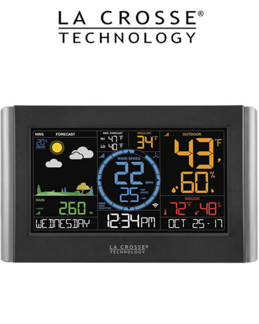 V22-WRTH La Crosse WIFI Wind Speed Rain Colour Weather Station image 1