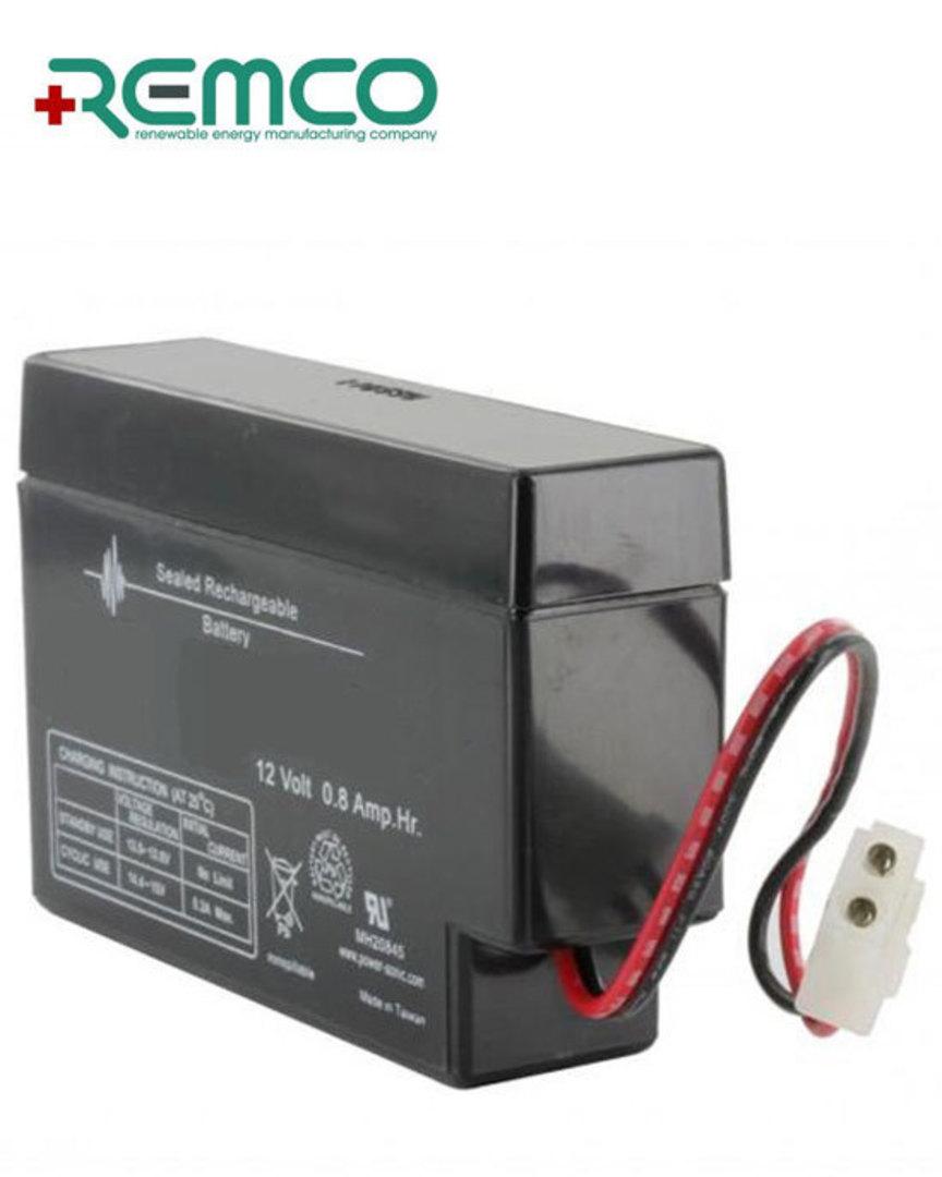 REMCO RM12-0.8 12V 0.8Ah SLA battery with E Plug image 0