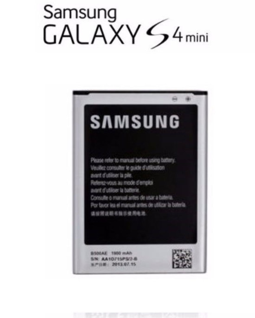 Genuine Samsung Galaxy S4 Mini Battery B500AE image 0