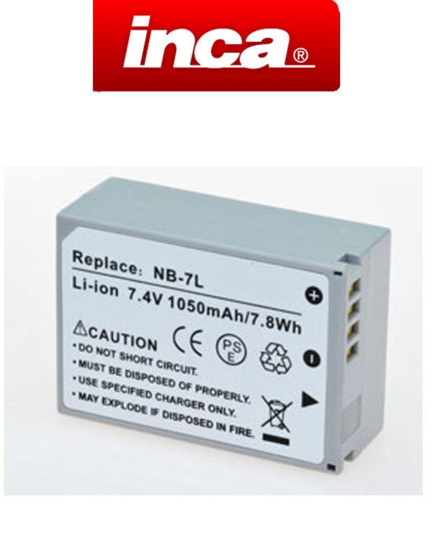 INCA CANON NB7L PowerShot G10 Camera Battery image 0