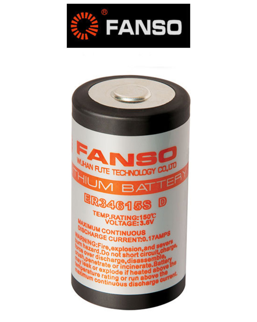 Fanso ER34615S D size 3.6V Lithium High Temp Type image 0