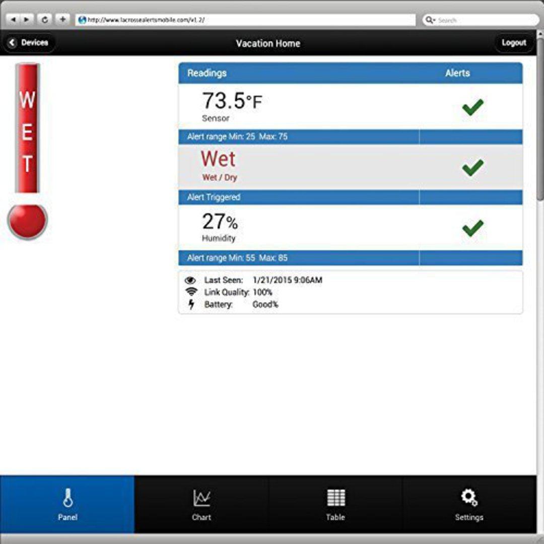 926-25104 La Crosse Alert Temp & Humidity Water Leak Detector image 2