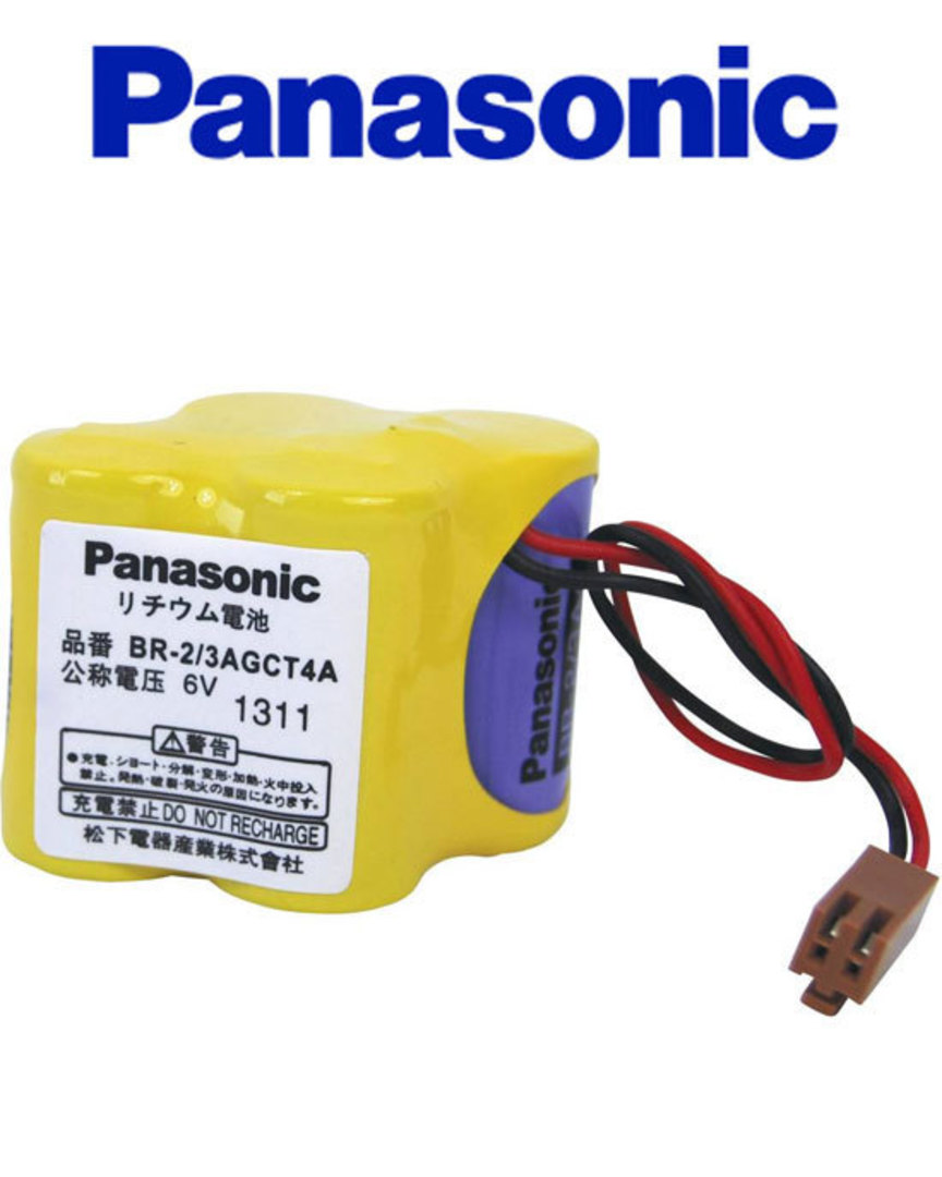PANASONIC BR-2/3AGCT4A 6V for GE Fanuc A98L-0031-0025 image 1