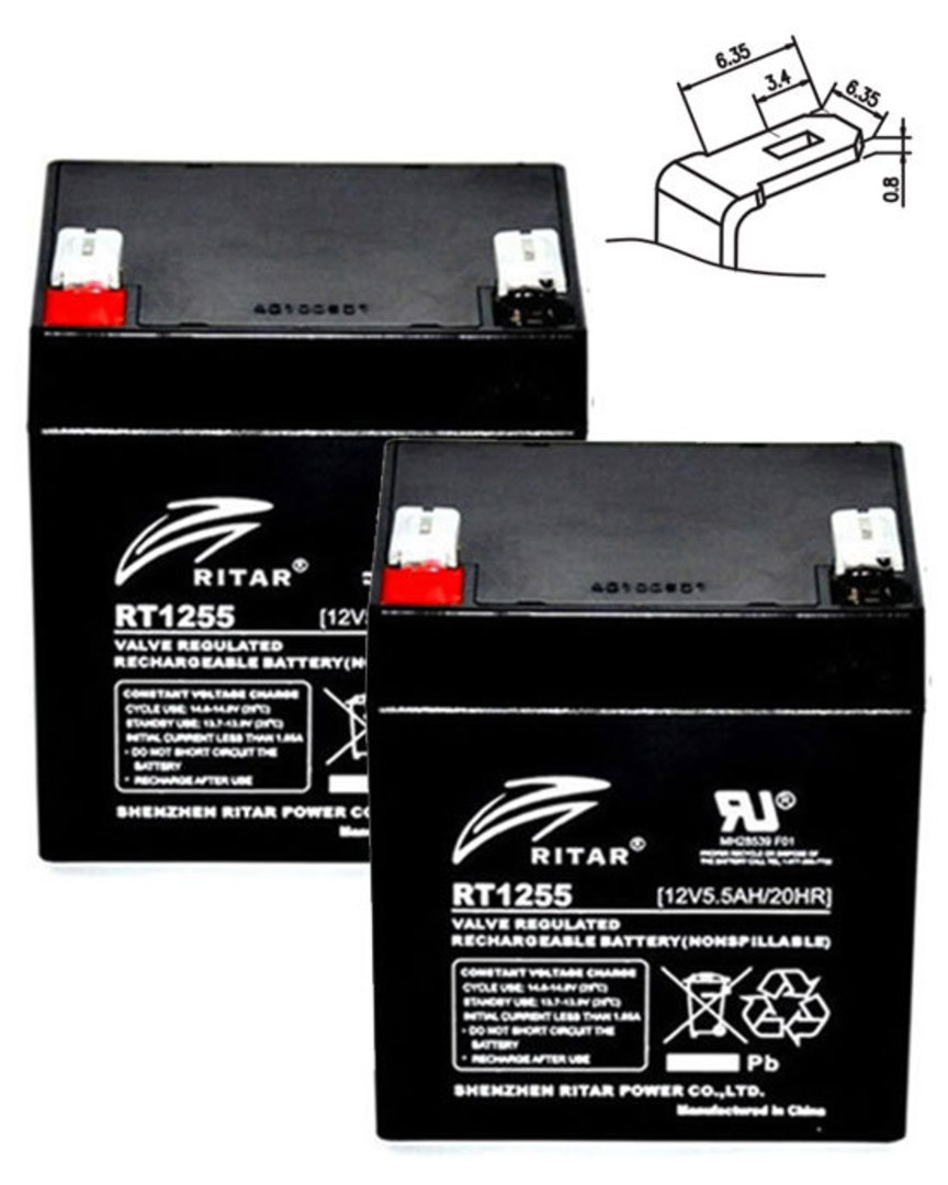 APC RBC20J 12V 5.5AH Replacement Battery Kit #20J image 0