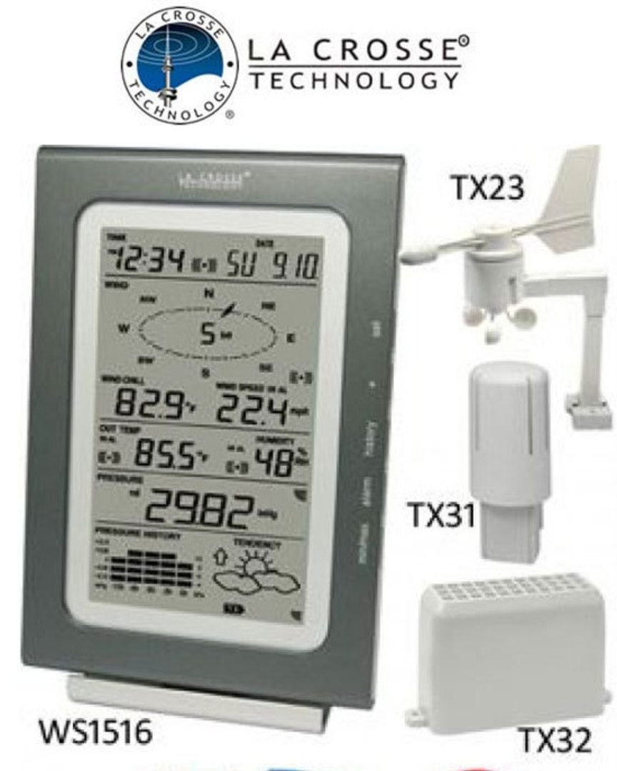 WS1516IT La Crosse Professional Weather Station image 0