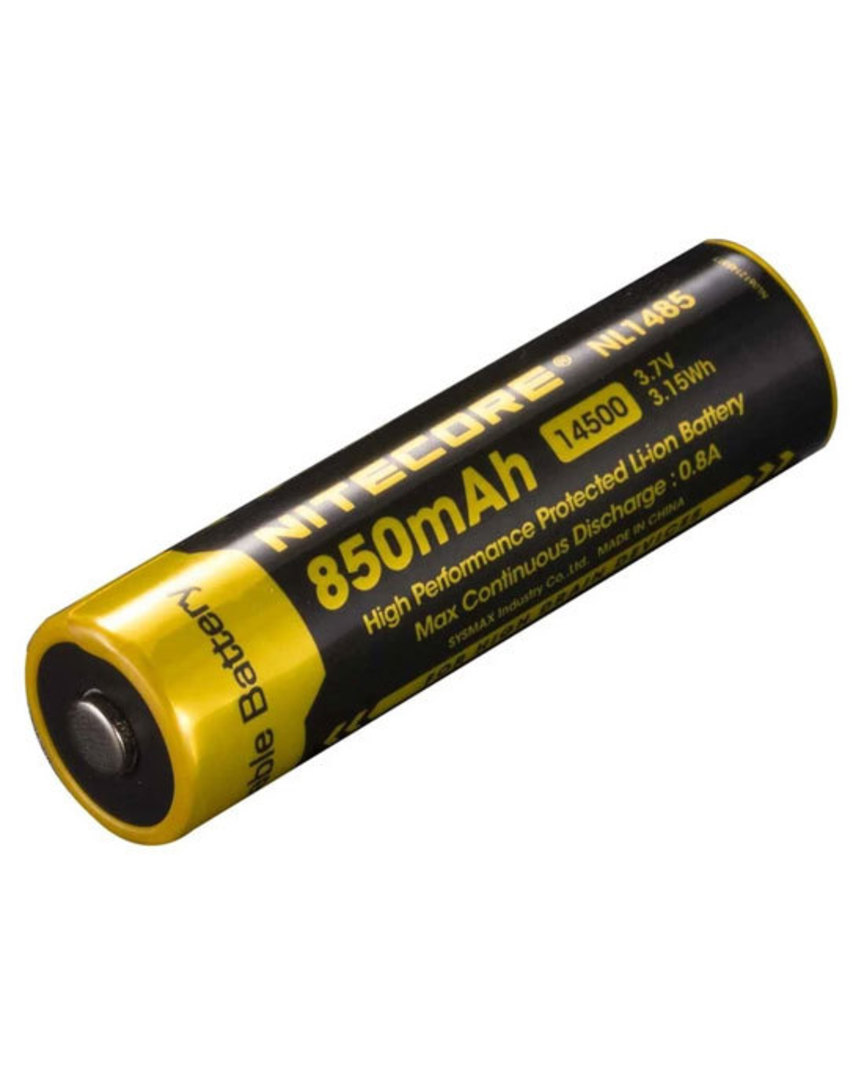 NITECORE NL1485 14500 850mAh Lithium Battery image 0