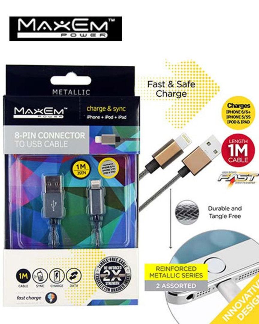 MAXEM USB Lightning Data Cable image 0