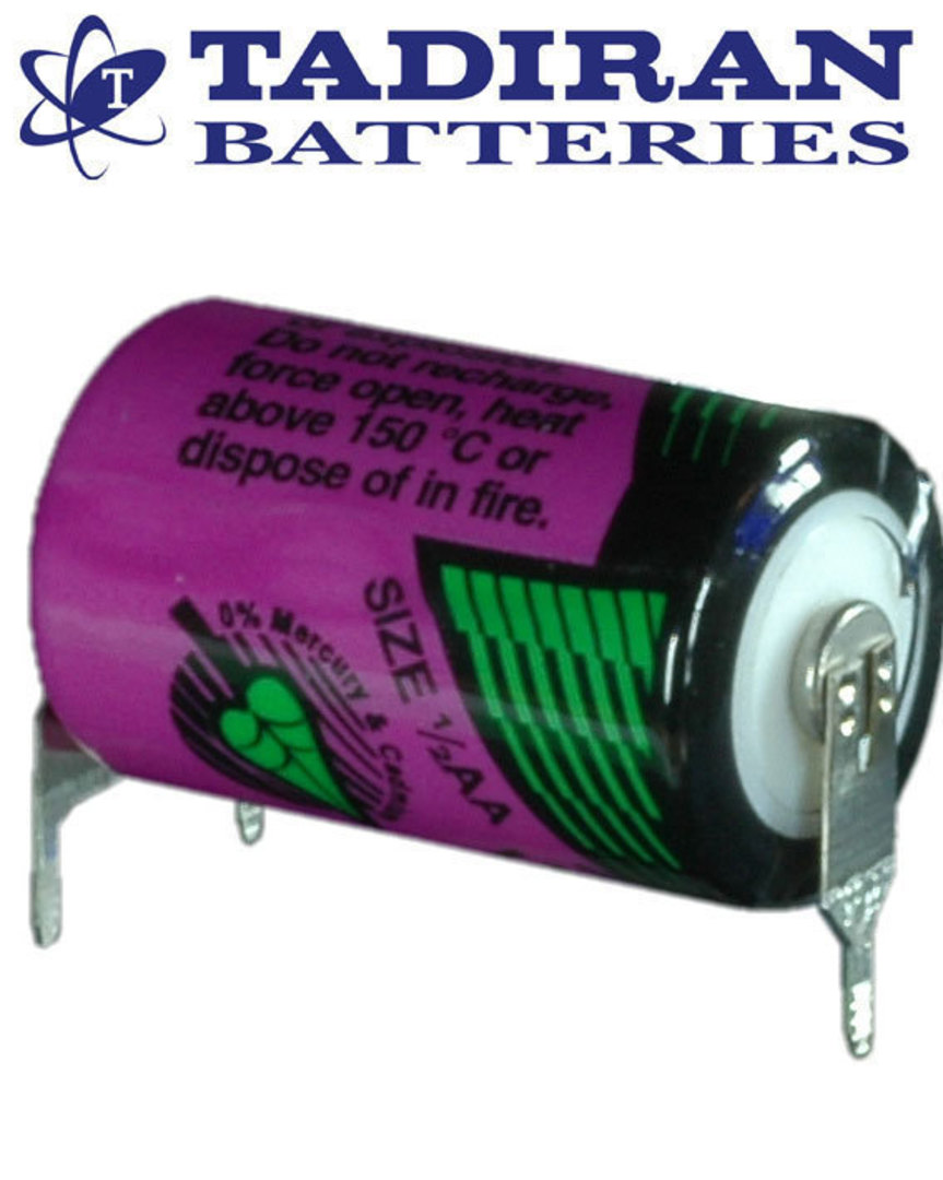 Tadiran TL-5902 (TP) 1/2AA 3.6V Lithium with 3-Pin (D-7mm S+) image 0