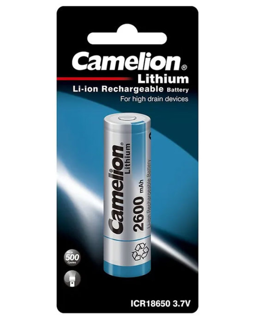 CAMELION 18650 2600mAh Rechargeable Battery image 0