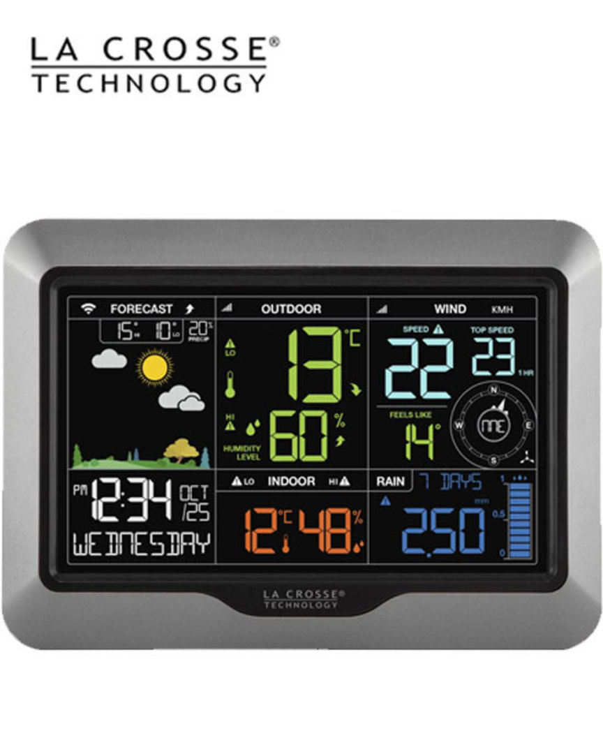 V40A-PRO La Crosse WIFI Complete Colour Weather Station image 1