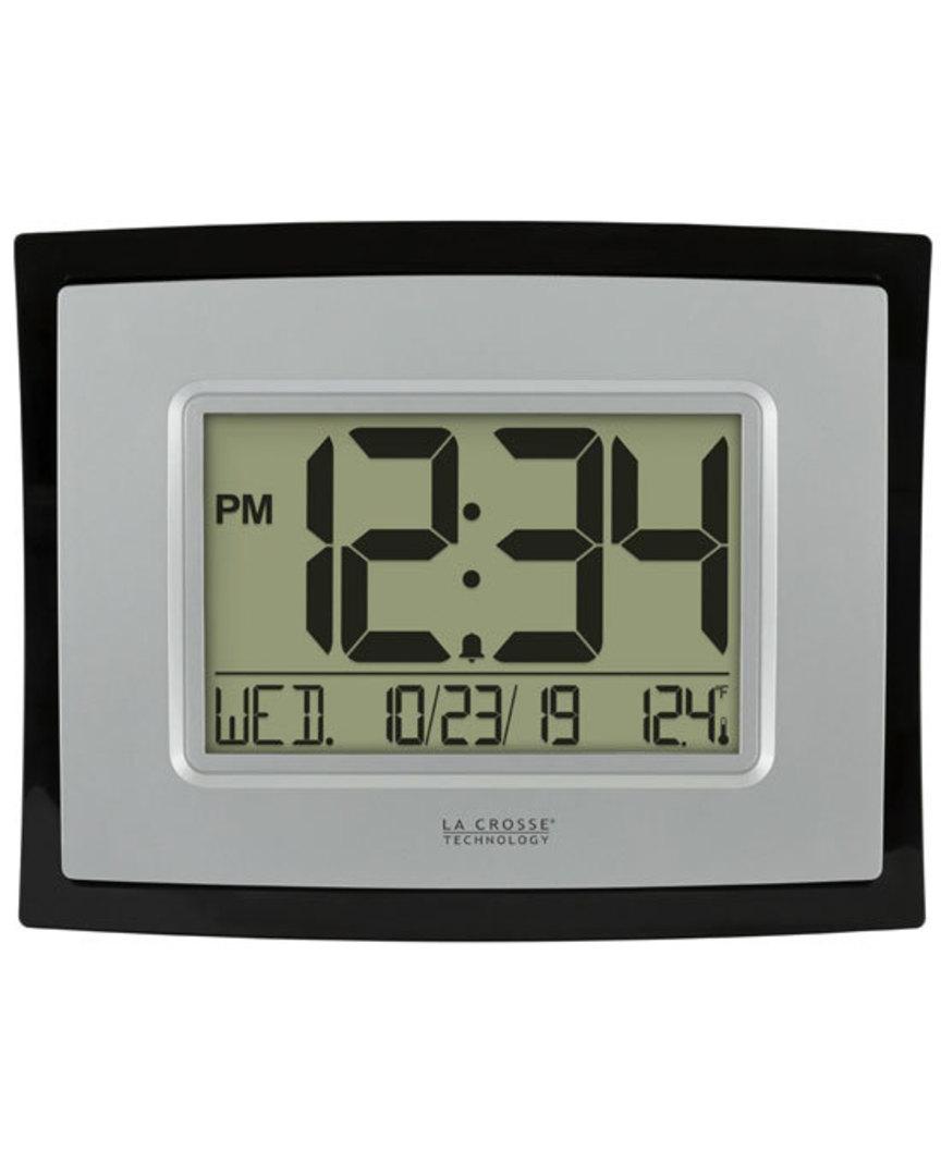 WT-8002UV2 Digital Wall Clock with Indoor Temp and Calendar image 1