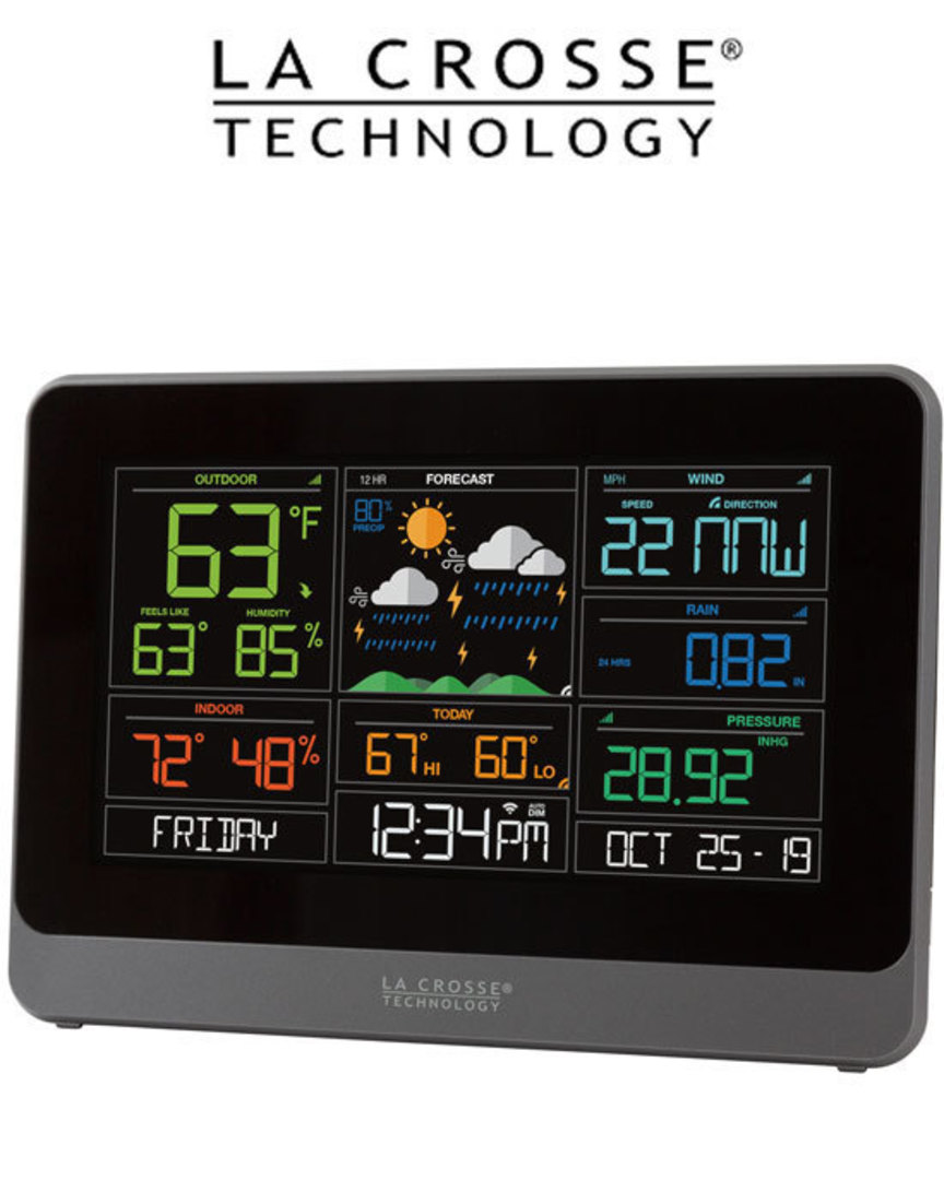 C83100 Complete WIFI Colour Weather Station with AccuWeather Forecast image 1