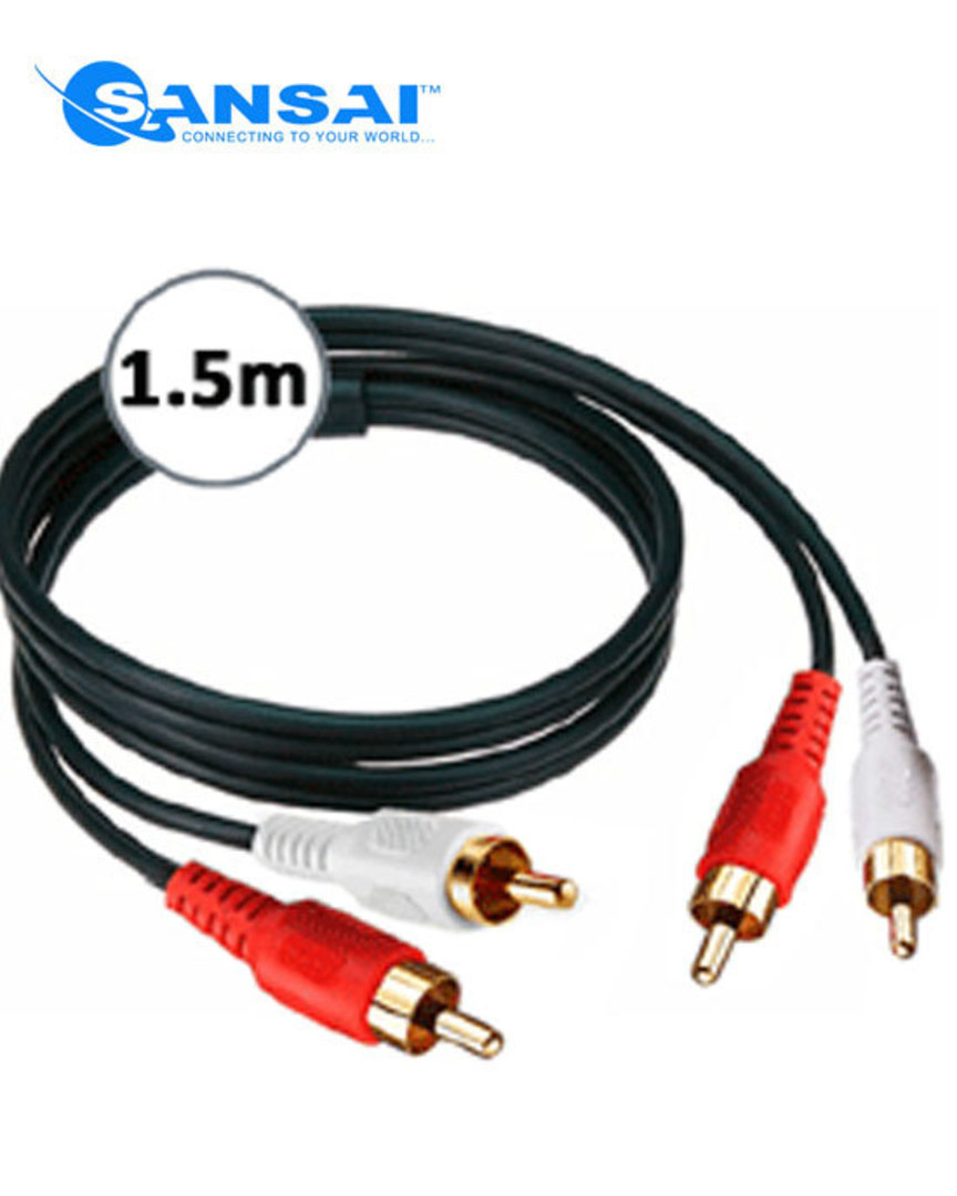 SANSAI 2 RCA Plugs to Plugs 1.5m image 0