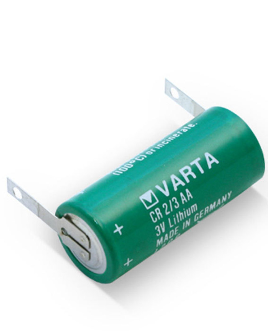 VARTA CR2/3AA Lithium Battery with Solder Tag image 1