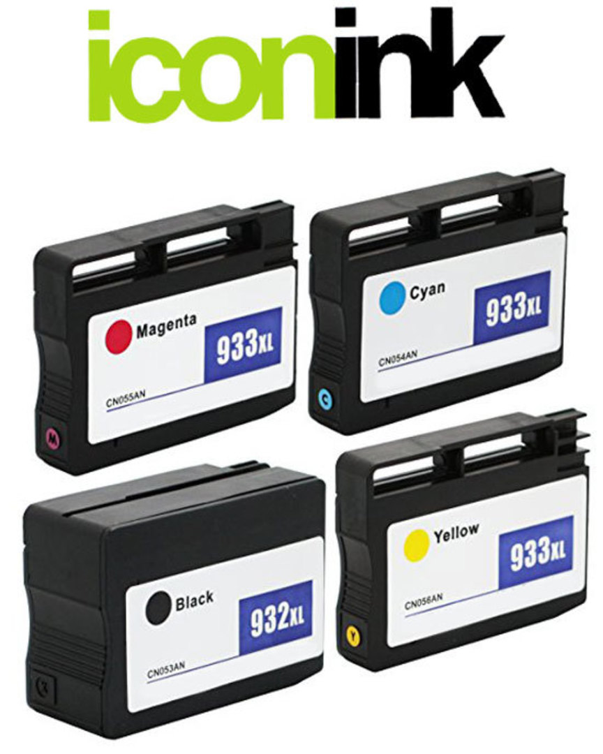 Compatible HP 932, HP 933 XL High Yield Ink Cartridge Set image 0