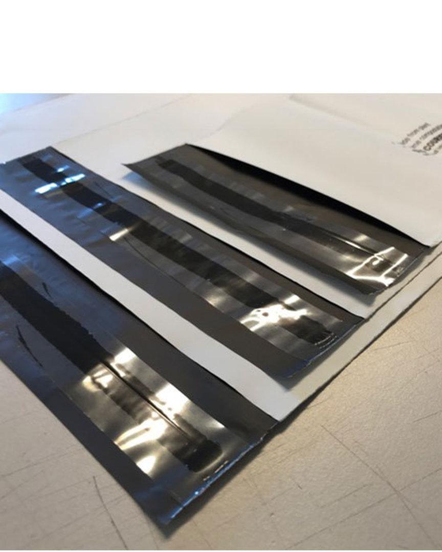 Courier Bag 25pcs DLE Size White Compostable image 0