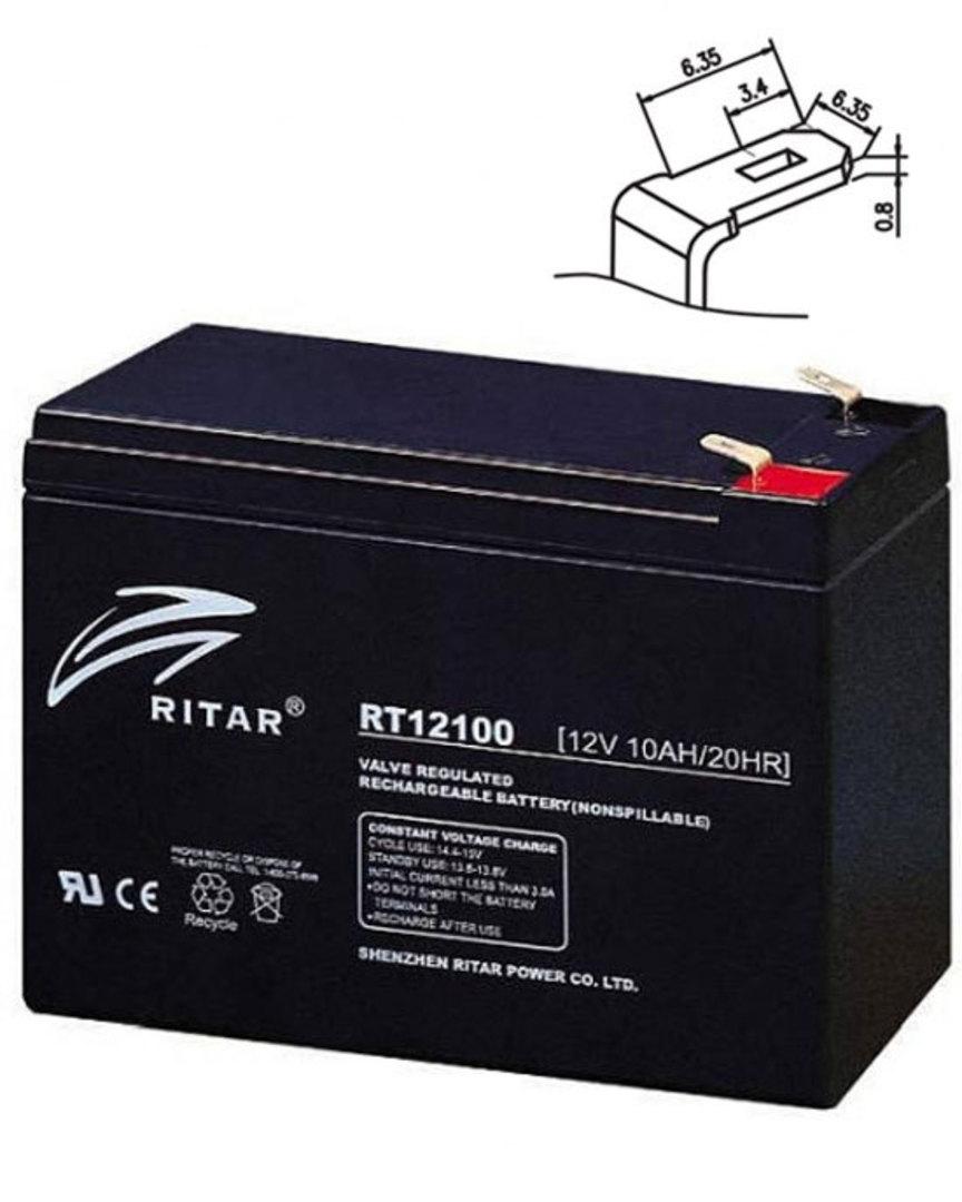 RITAR RT12100S 12V 10AH SLA battery image 0