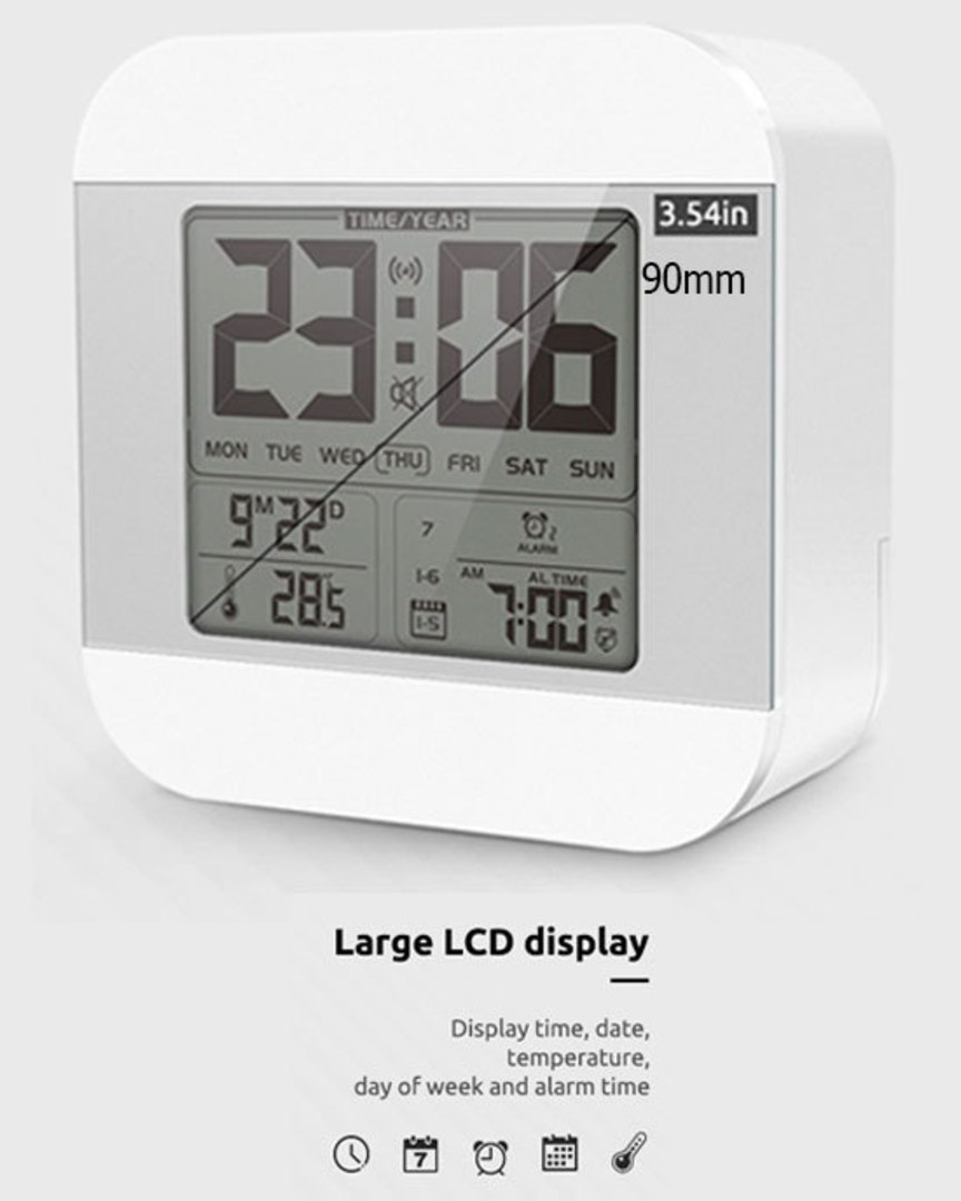 Smart Talking Clock Time and Temperature Speaking image 0