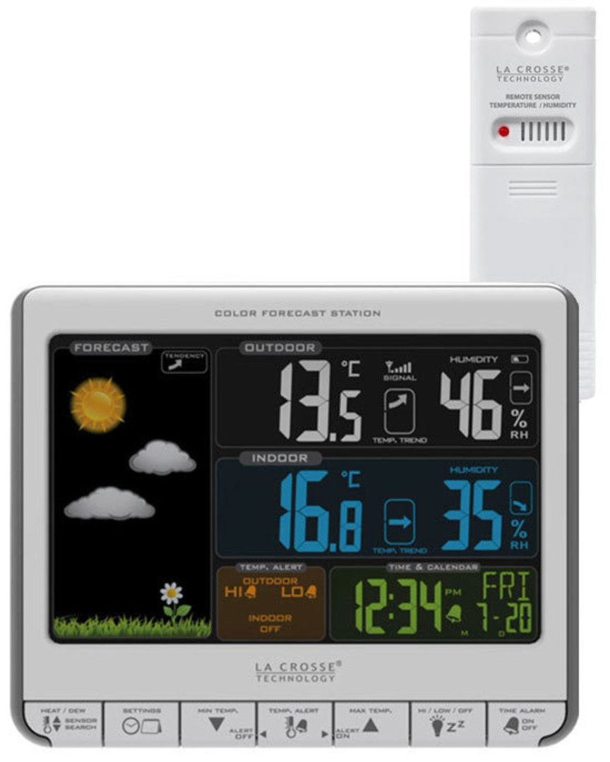 308-1412S La Crosse Forecast Station with USB Charging Port image 0