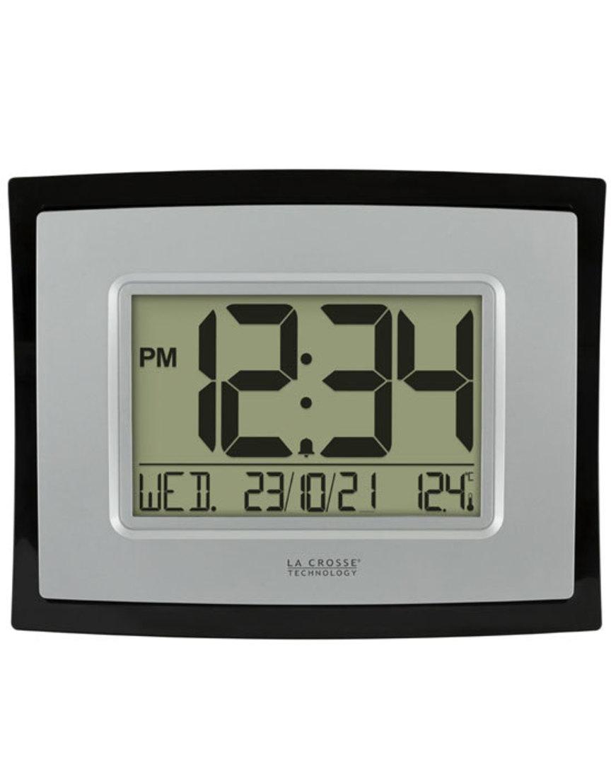 WT-8002UV2 Digital Wall Clock with Indoor Temp and Calendar image 0