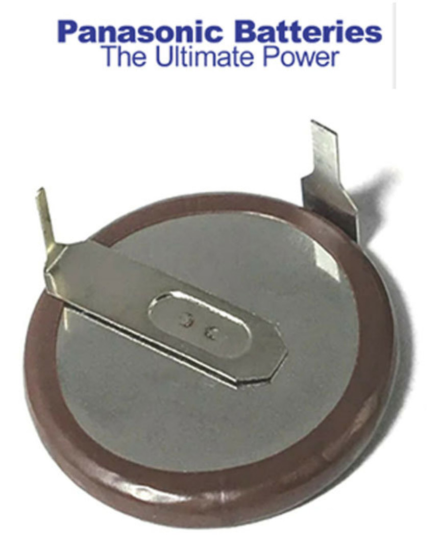 PANASONIC VL2020 E46 Rechargeable Lithium Battery Coin Cell image 0