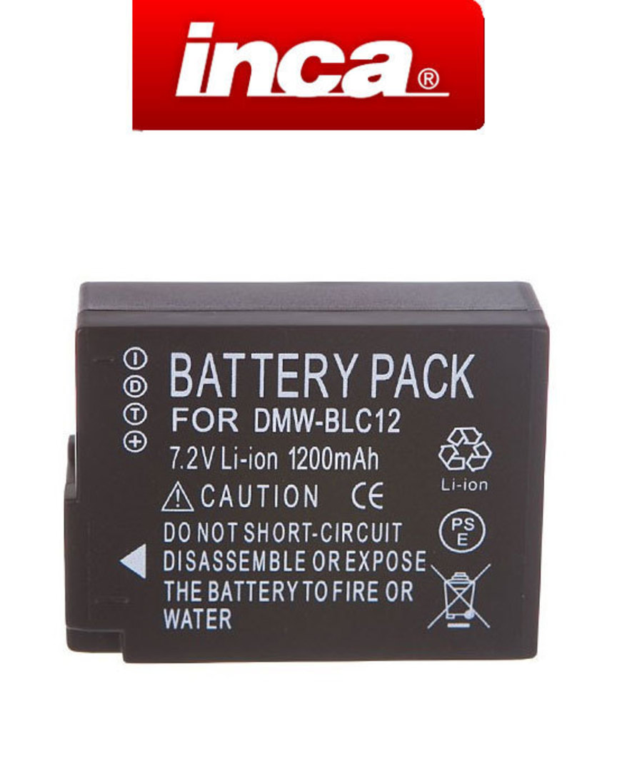 INCA PANASONIC DMW-BLC12 Camera Battery image 0