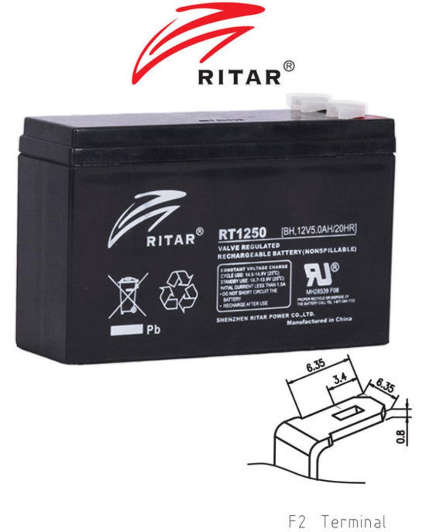 RITAR RT1250BH 12V 5AH SLA battery image 0
