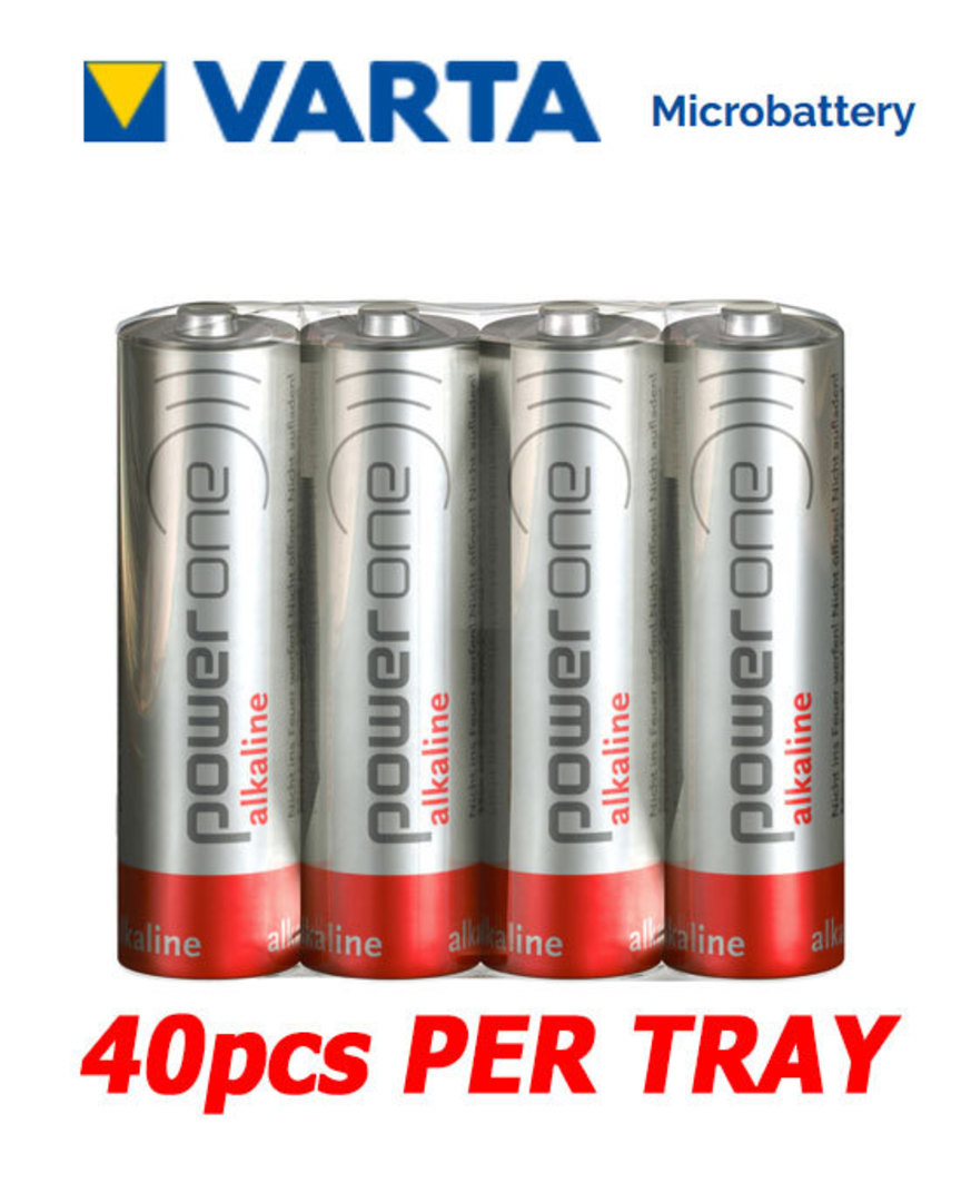 VARTA POWERONE AA Alkaline Battery, Pack of 40 image 0