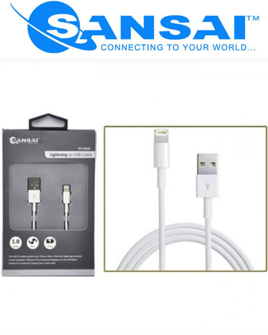 SANSAI Lightning to USB Cable image 1
