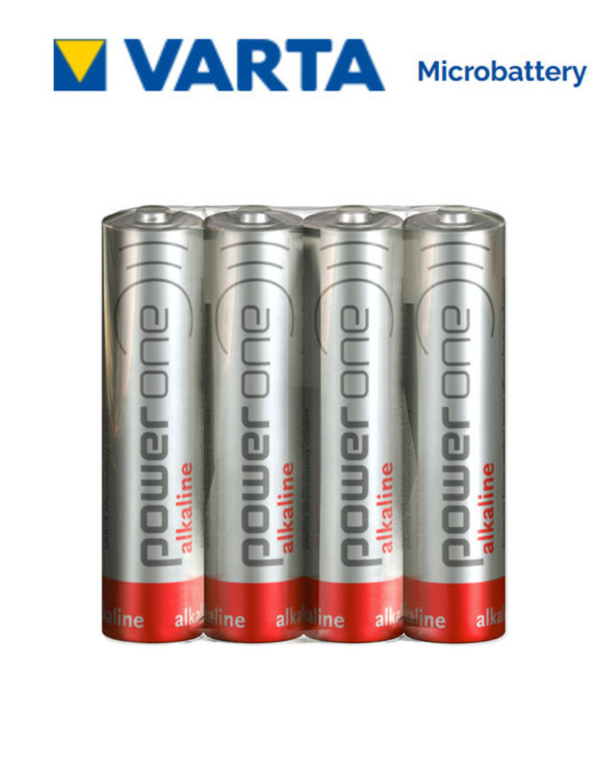 VARTA POWERONE AAA Alkaline Battery, Pack of 4 image 0