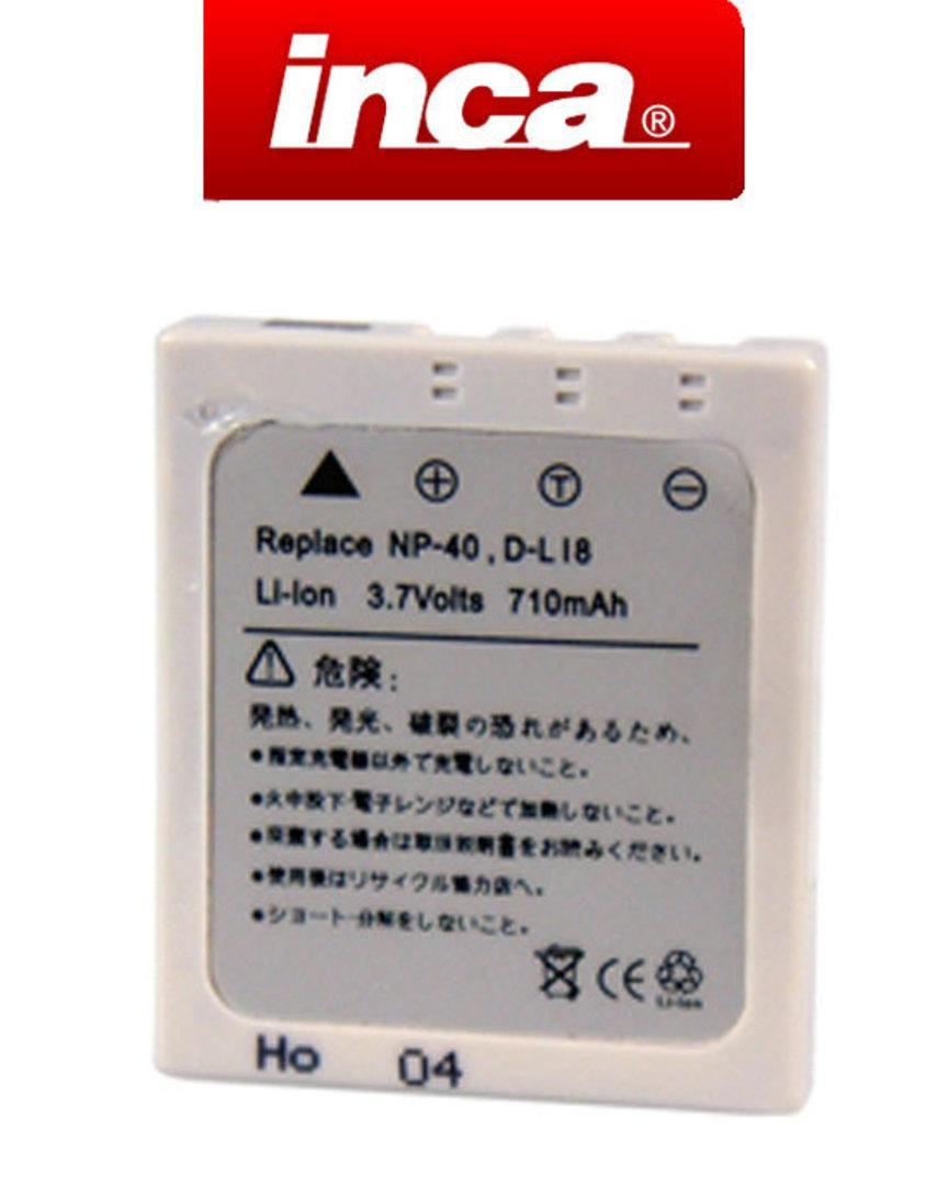INCA FUJIFILM NP40 PENTAX DLi8 DLi85 KODAX KLIC7005 Camera Battery image 0