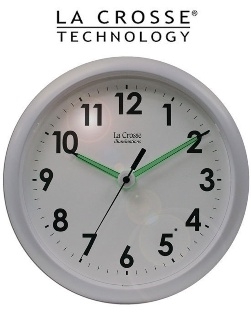403-310 La Crosse Analog Wall Clock with Night Sensor image 1