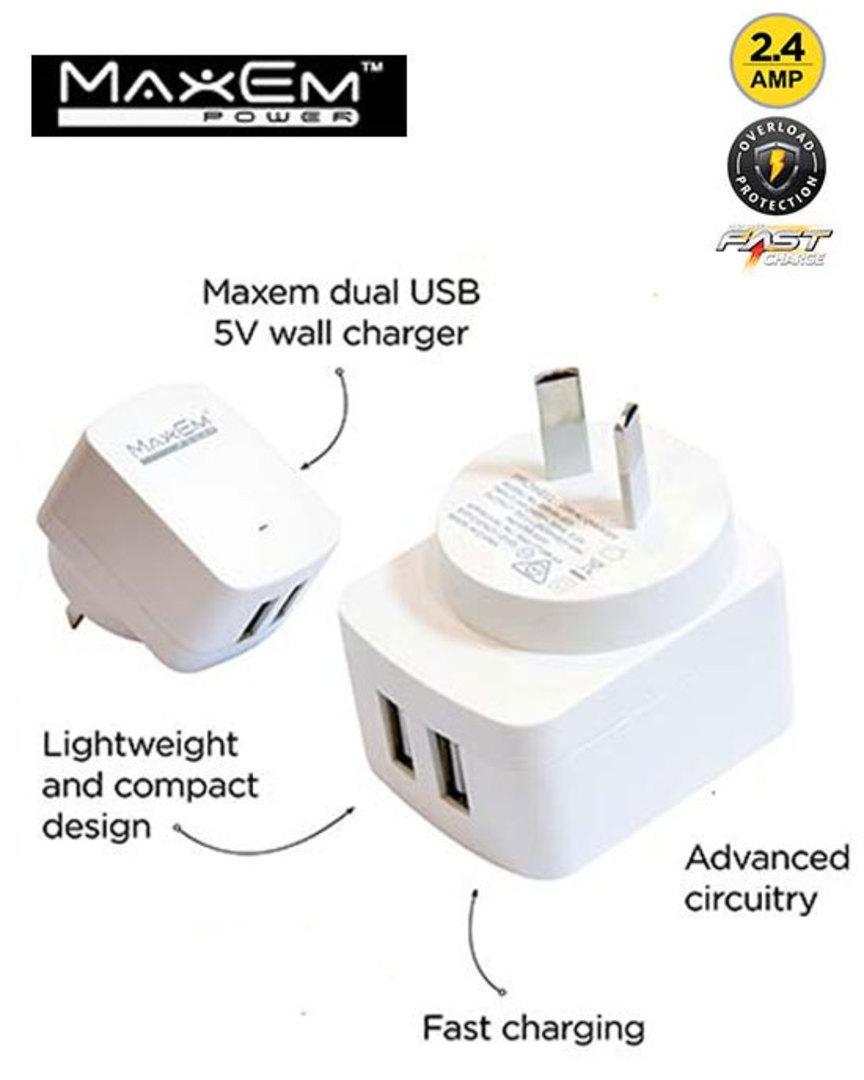 MAXEM USB Dual Power Adaptor image 0