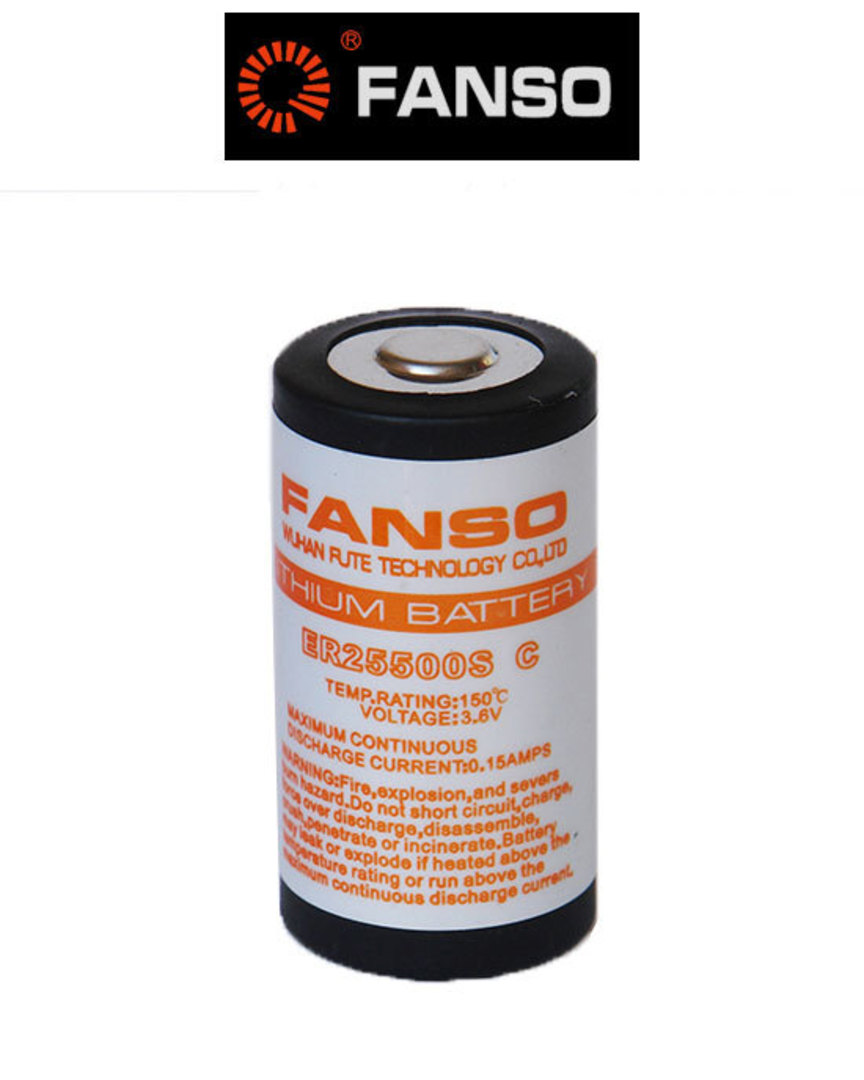 Fanso ER25500S C size 3.6V Lithium High Temp Type image 0
