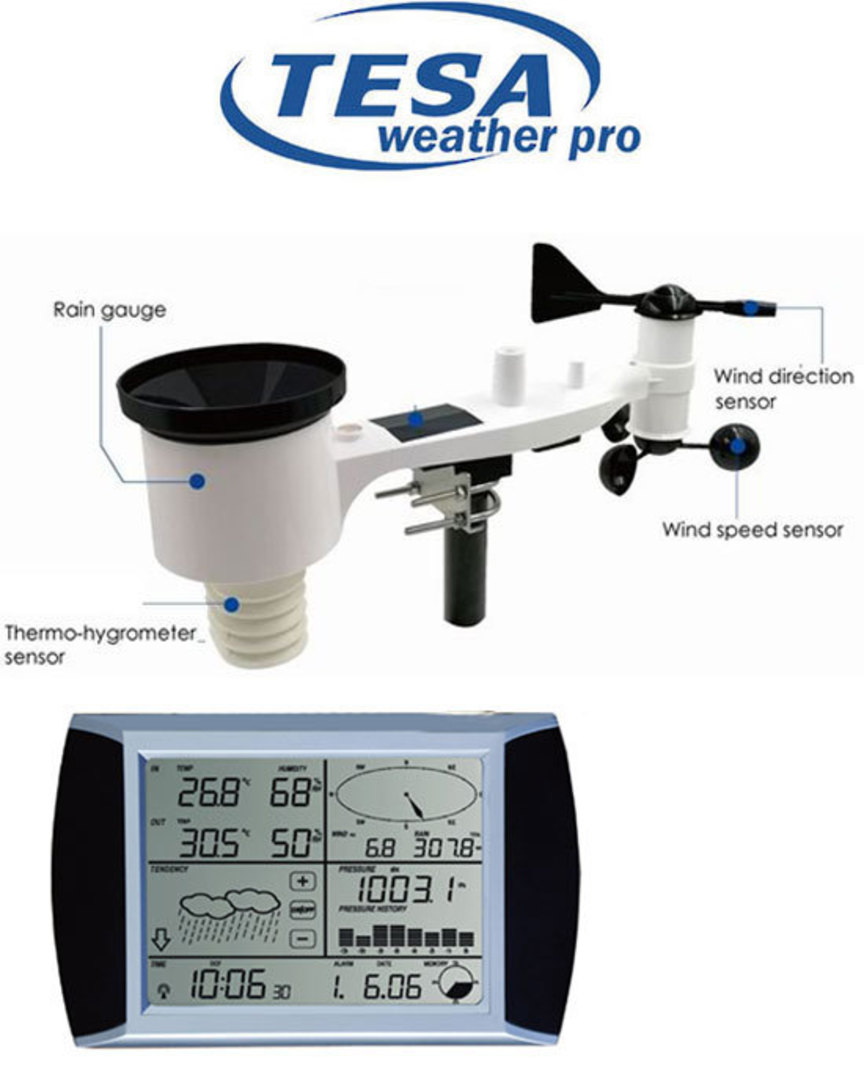 WS1081 TESA Touch Screen Panel Weather Center with PC interface image 2
