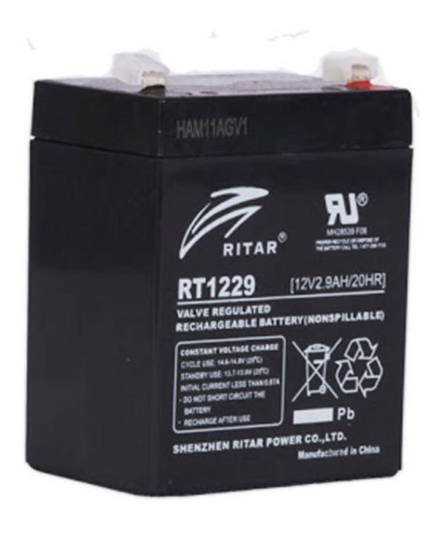 RITAR RT1229 12V 2.9AH SLA battery image 0