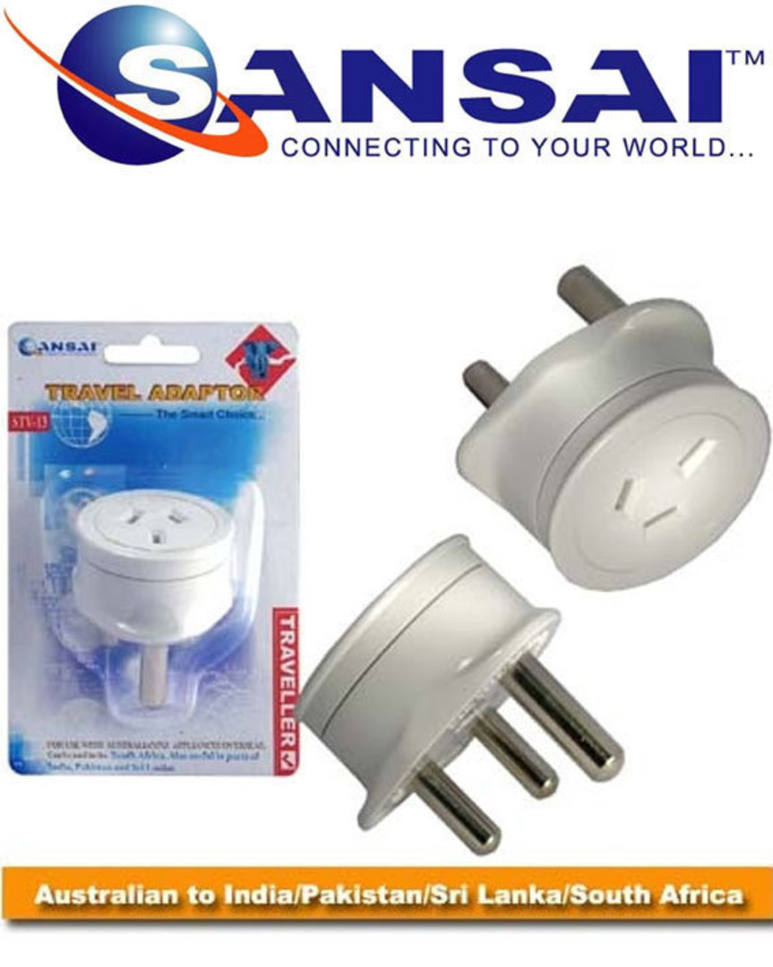 SANSAI Travel Adaptor for NZ to South Africa India Pakistan Sri Lanka image 0