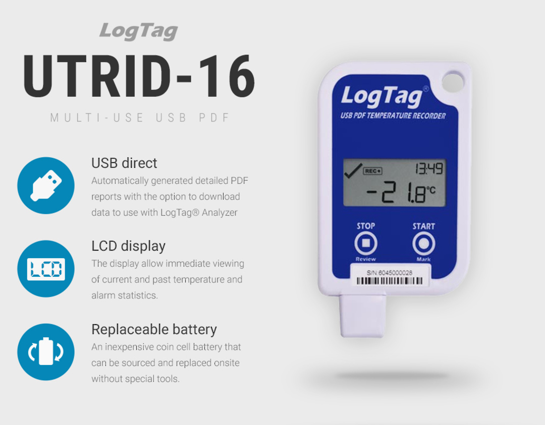UTRID-16 Multi-Use USB Data Logger with LCD Display image 0