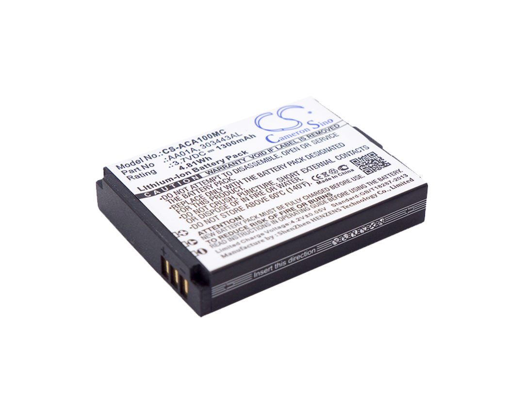 ACTIVEON 303443AL, AA01A Compatible Battery image 0