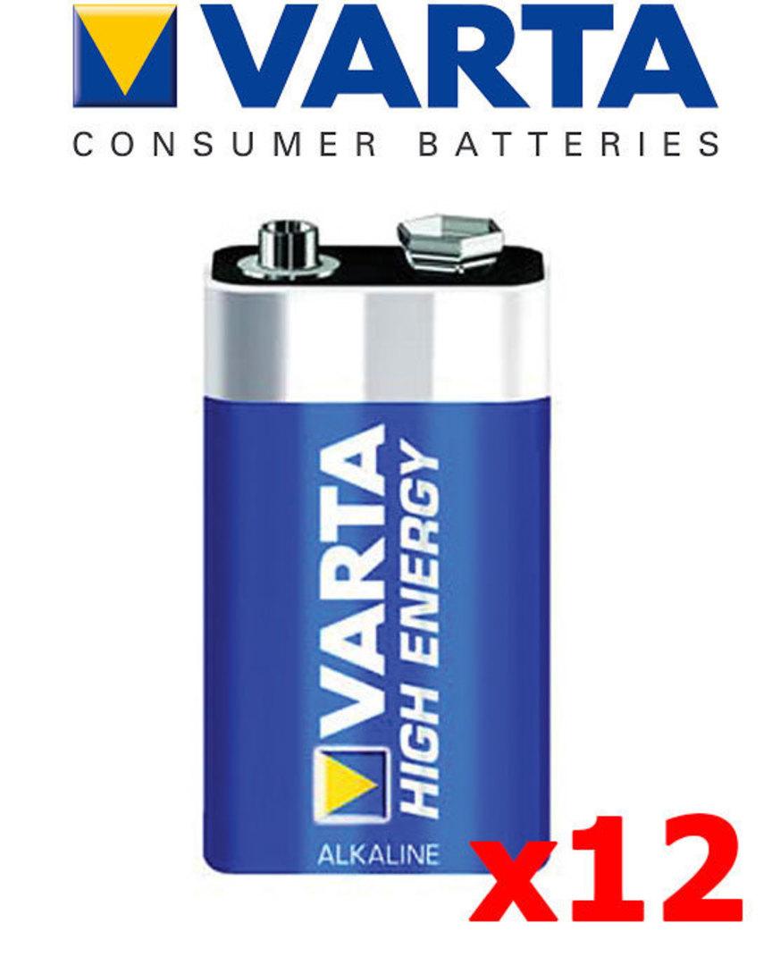 Varta 9V Size Alkaline 12 Pack image 1