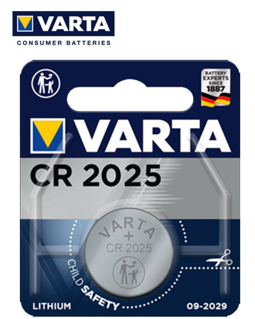 VARTA CR2025 Lithium Battery image 1
