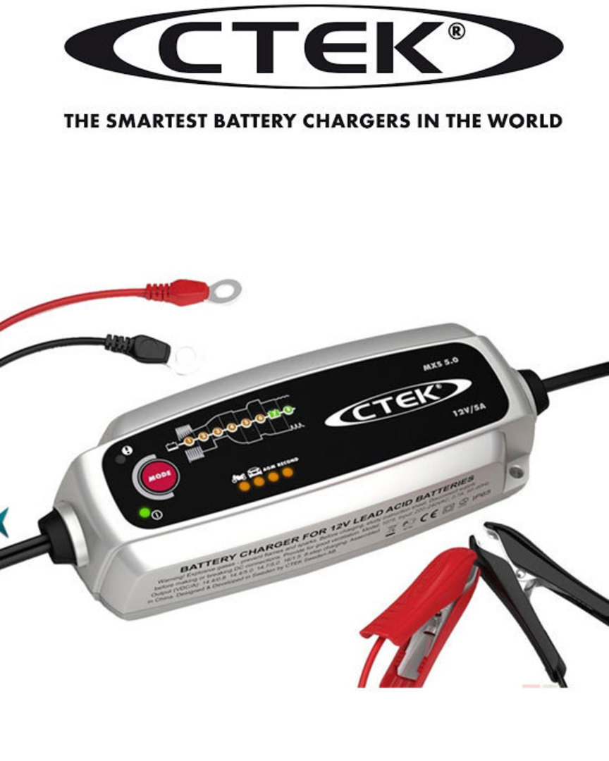 CTEK 56-987 MXS 5.0T 12V-5AMP NG Charger with Temperature Compensation image 1