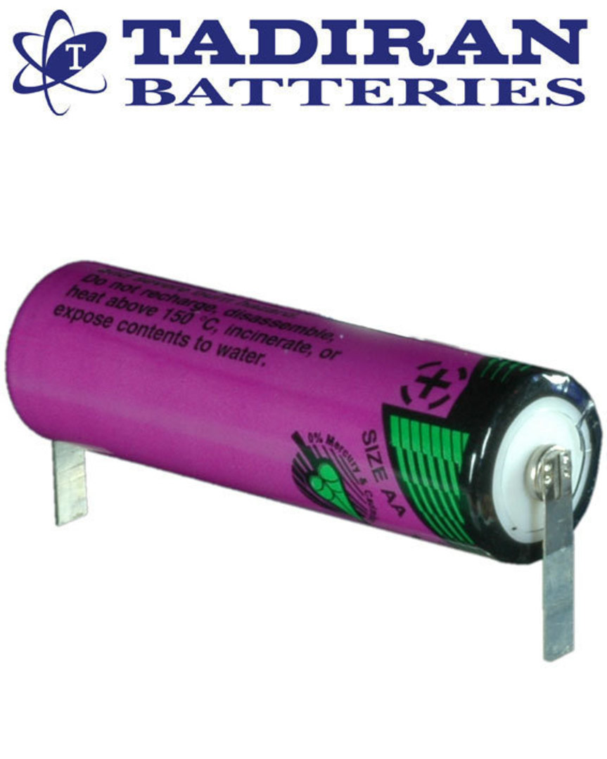 Tadiran TL-5903 (T) AA Lithium Battery with Solder Tags image 0