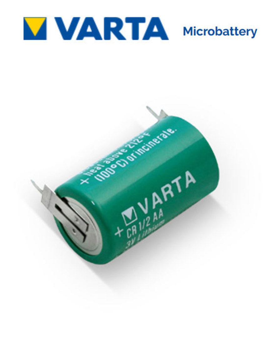 VARTA CR1/2AA Lithium Battery with 2-Pin image 0