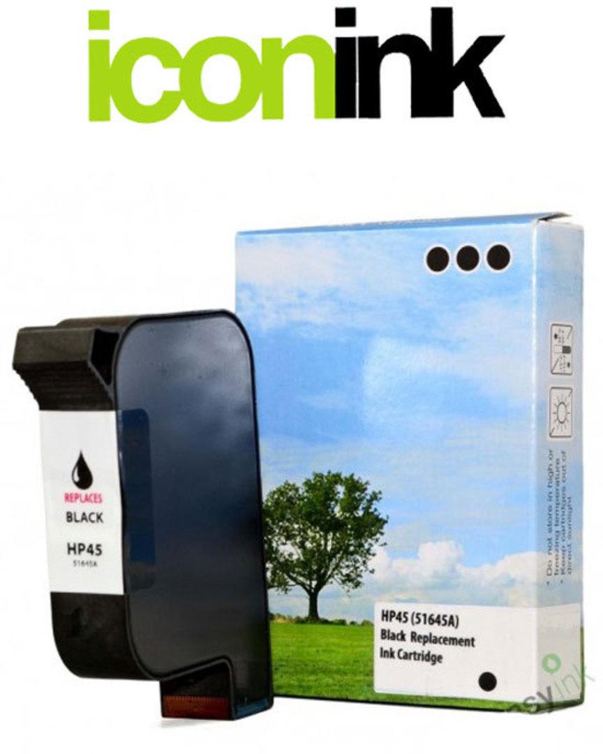 Compatible HP 45 Black Ink Cartridge (51645AA) image 0