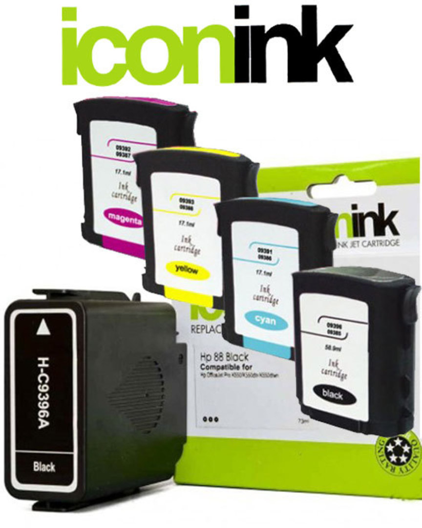 Compatible HP 88 XL High Yield Ink Cartridge Set image 0