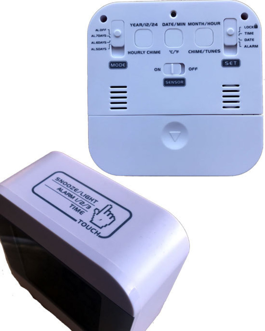 Smart Talking Alarm Clock Time and Temperature image 3