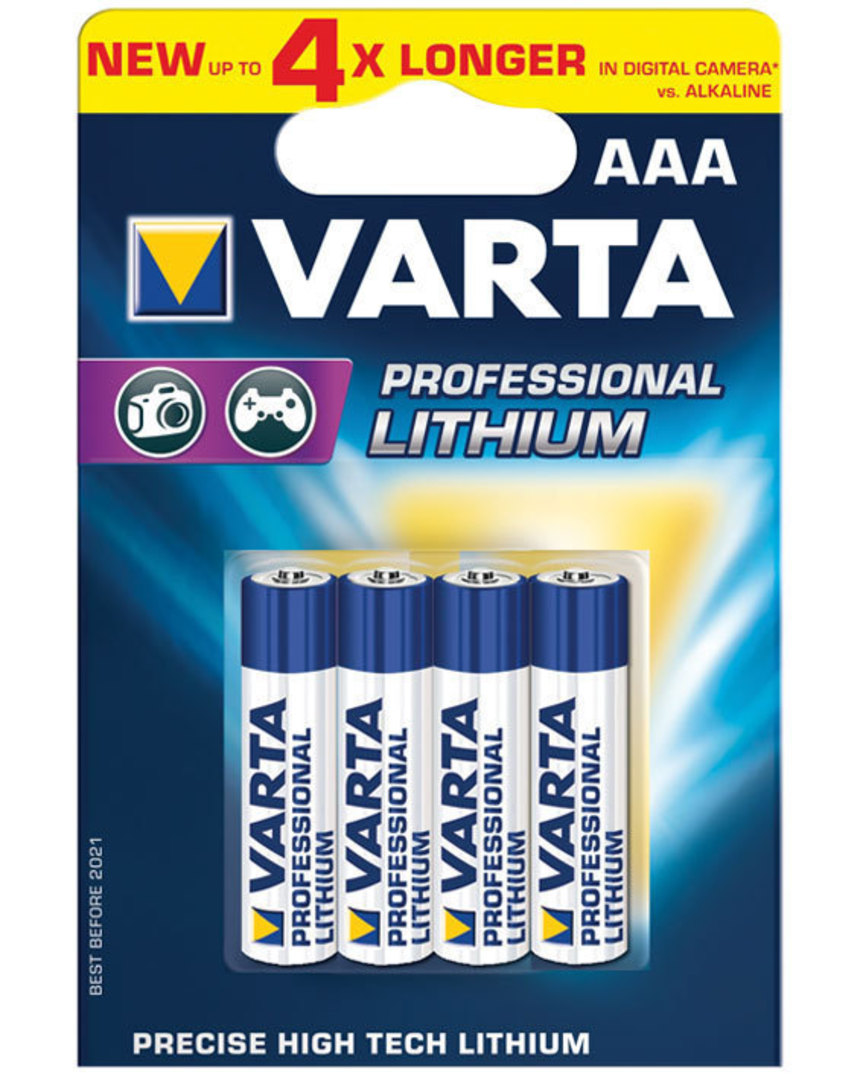 Varta AAA Lithium Battery 4 Pack image 0