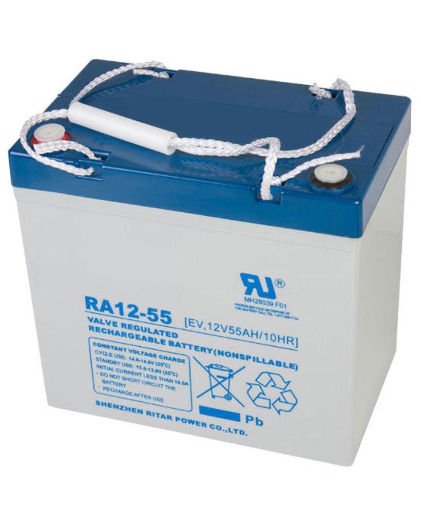 RITAR RA12-55EV 12V 55AH Deep Cycle SLA Battery image 0